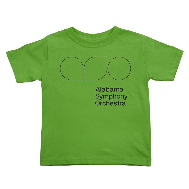 Black Outline Kids Toddler T-Shirt by Alabama Symphony Orchestra Goods & Apparel