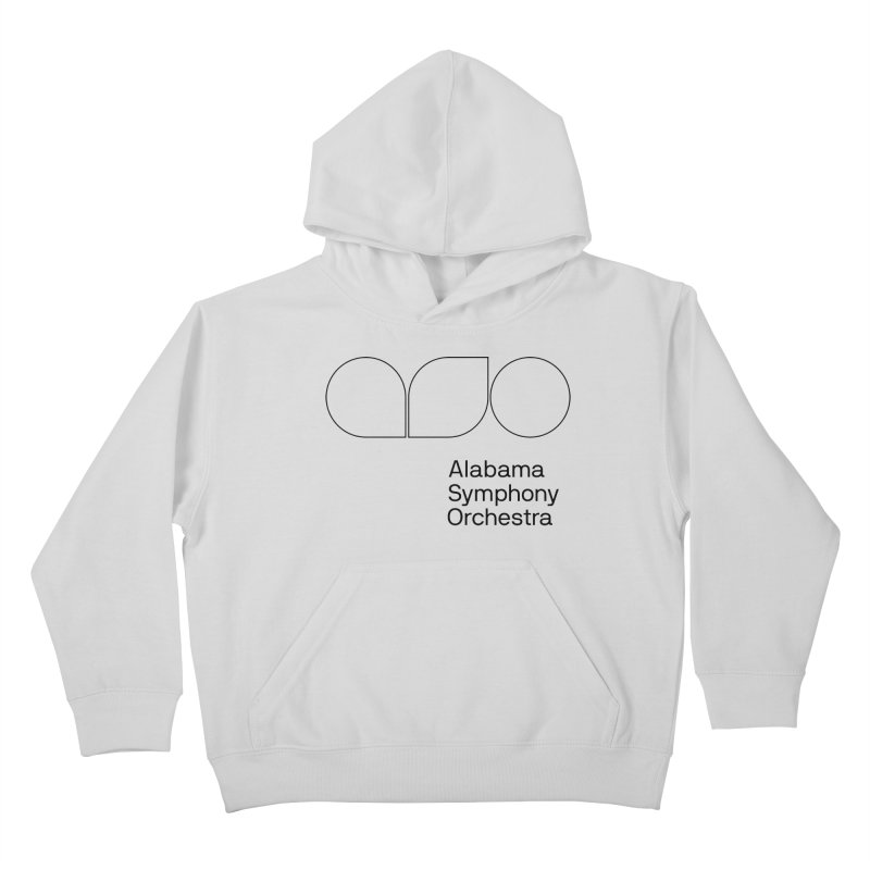 Black Outline Kids Pullover Hoody by Alabama Symphony Orchestra Goods & Apparel