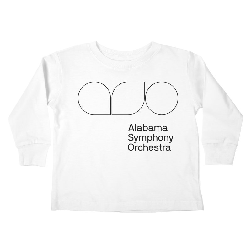 Black Outline Kids Toddler Longsleeve T-Shirt by Alabama Symphony Orchestra Goods & Apparel