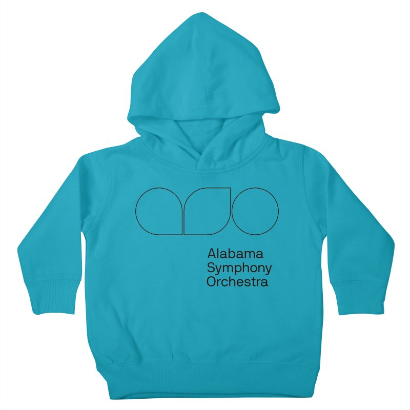 Black Outline Kids Toddler Pullover Hoody by Alabama Symphony Orchestra Goods & Apparel