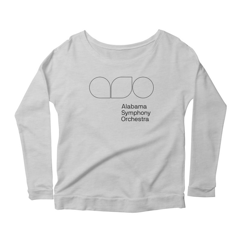 Black Outline Women's Longsleeve Scoopneck  by Alabama Symphony Orchestra Goods & Apparel