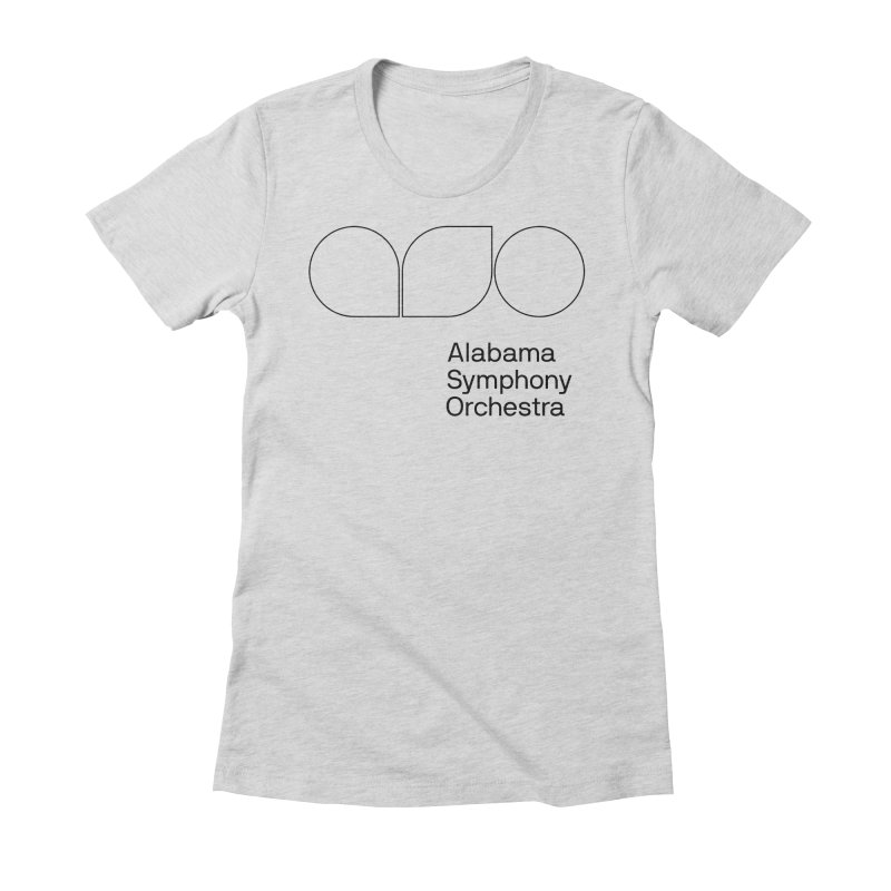 Black Outline Women's Fitted T-Shirt by Alabama Symphony Orchestra Goods & Apparel