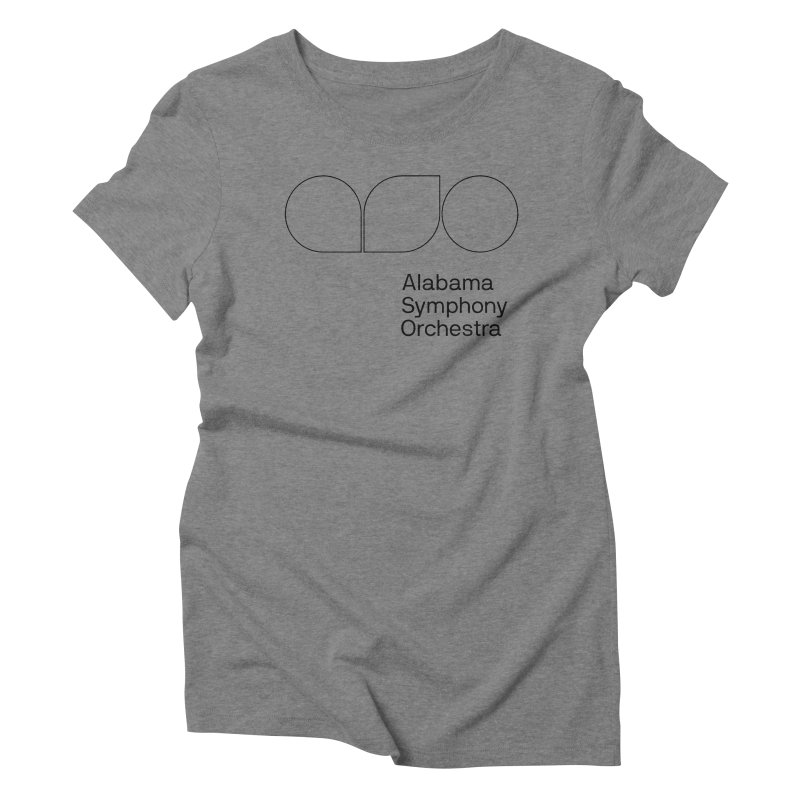 Black Outline Women's Triblend T-Shirt by Alabama Symphony Orchestra Goods & Apparel