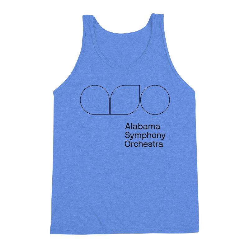 Black Outline Men's Triblend Tank by Alabama Symphony Orchestra Goods & Apparel