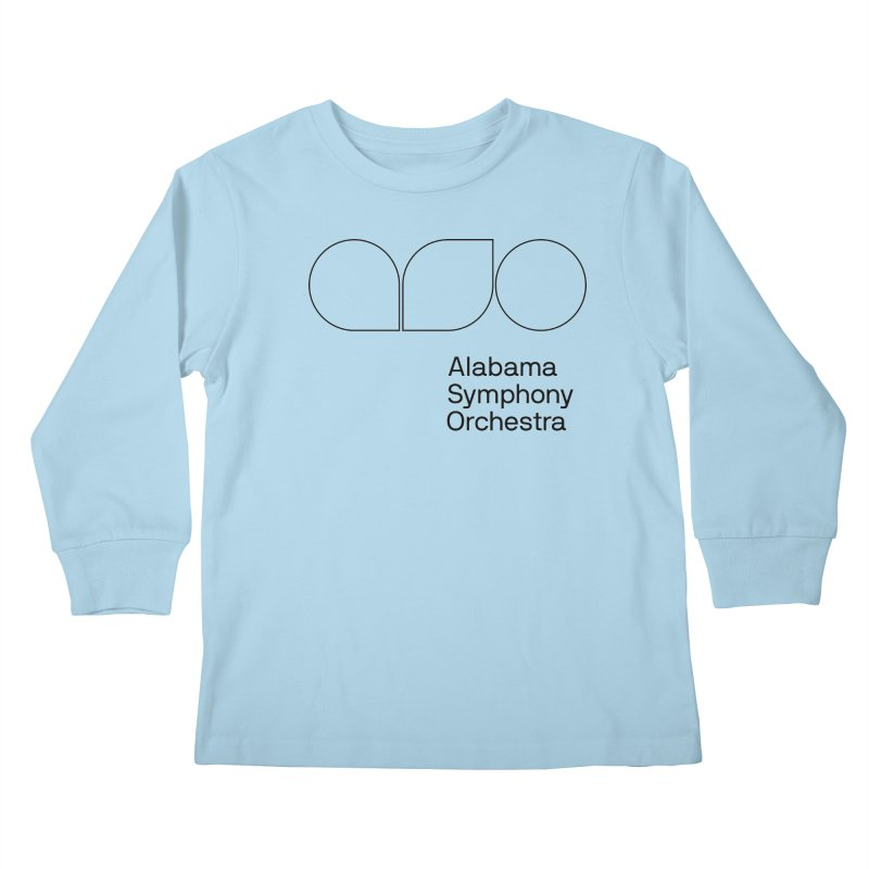 Black Outline Kids Longsleeve T-Shirt by Alabama Symphony Orchestra Goods & Apparel