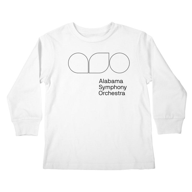 Black Outline Kids Longsleeve T-Shirt by Alabama Symphony Orchestra Goods & Apparel