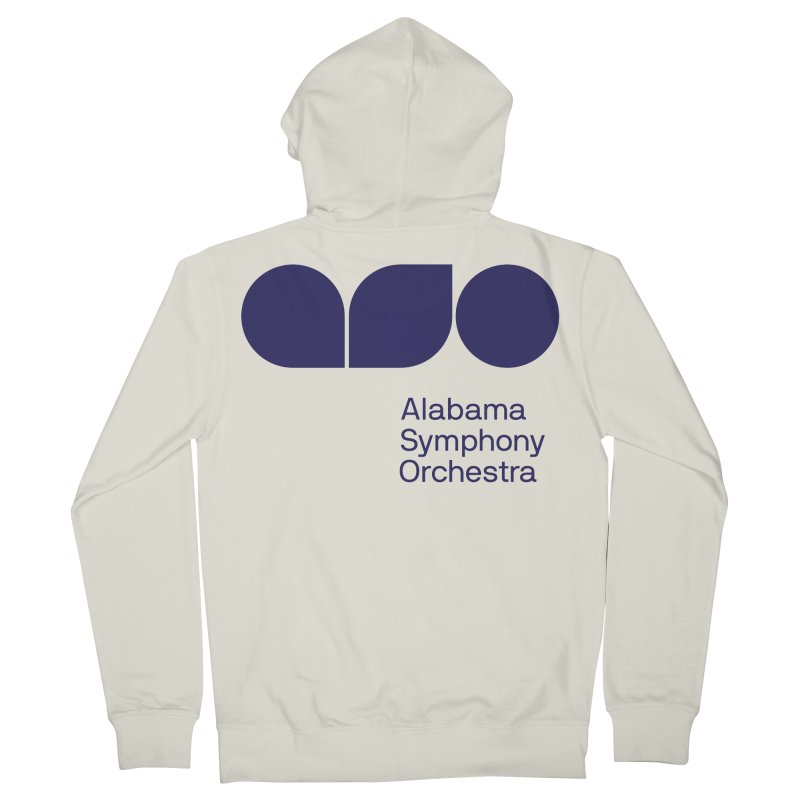Solid Color Women's French Terry Zip-Up Hoody by Alabama Symphony Orchestra Goods & Apparel