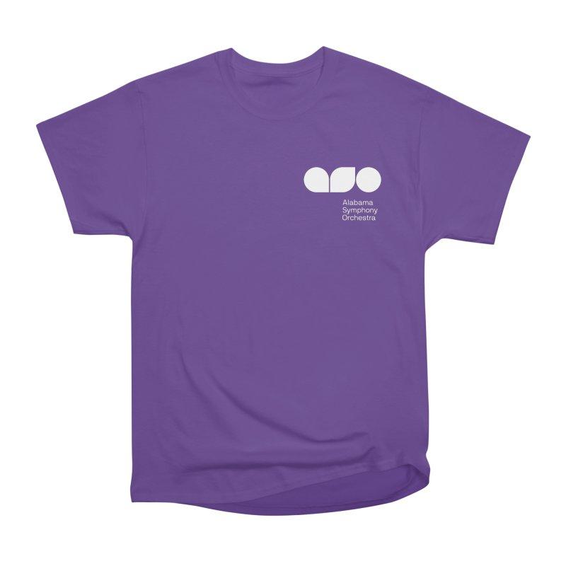 White Logo Left Chest Men's T-Shirt by Alabama Symphony Orchestra Goods & Apparel