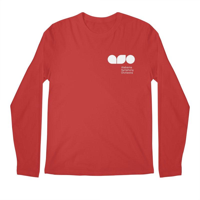 White Logo Left Chest Men's Longsleeve T-Shirt by Alabama Symphony Orchestra Goods & Apparel