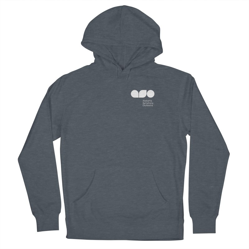 White Logo Left Chest Men's Pullover Hoody by Alabama Symphony Orchestra Goods & Apparel