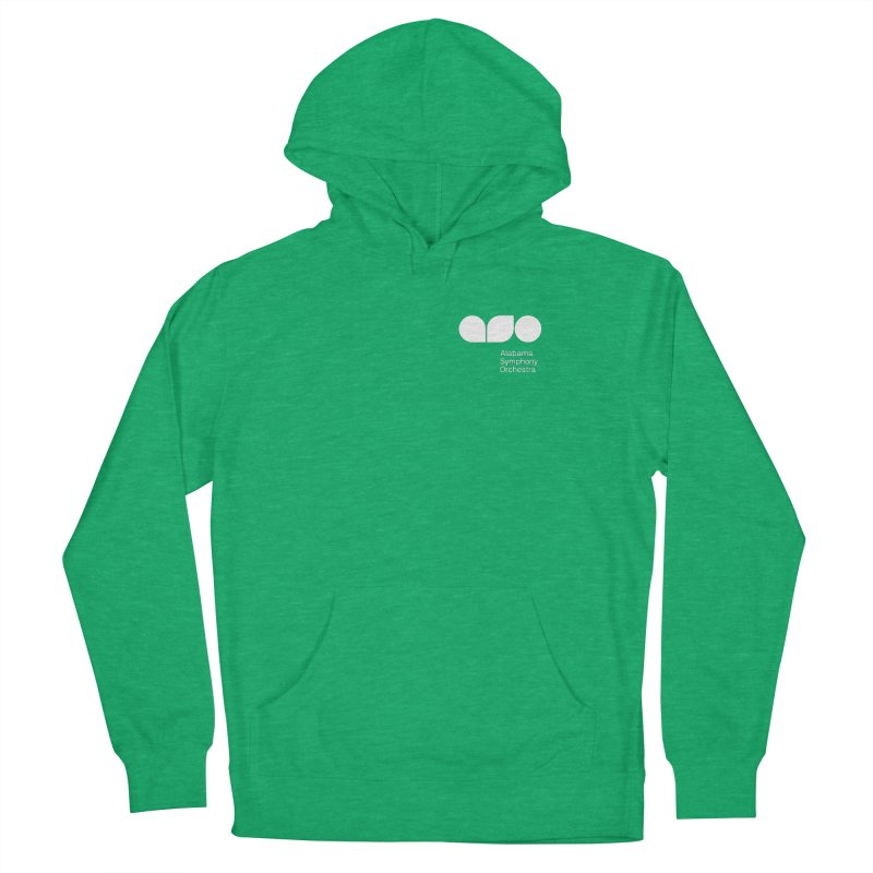 White Logo Left Chest Women's Pullover Hoody by Alabama Symphony Orchestra Goods & Apparel