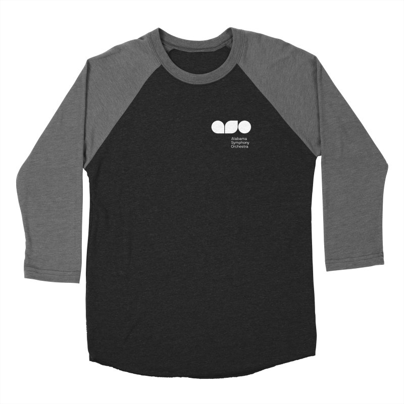White Logo Left Chest Women's Longsleeve T-Shirt by Alabama Symphony Orchestra Goods & Apparel