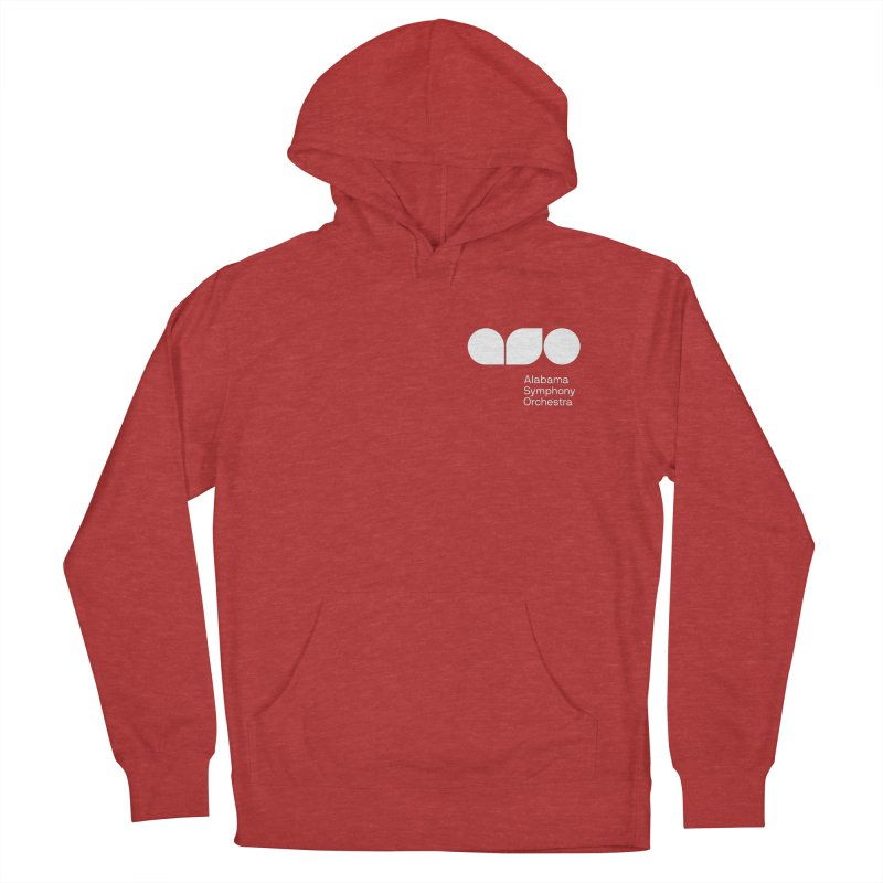 White Logo Left Chest Women's French Terry Pullover Hoody by Alabama Symphony Orchestra Goods & Apparel