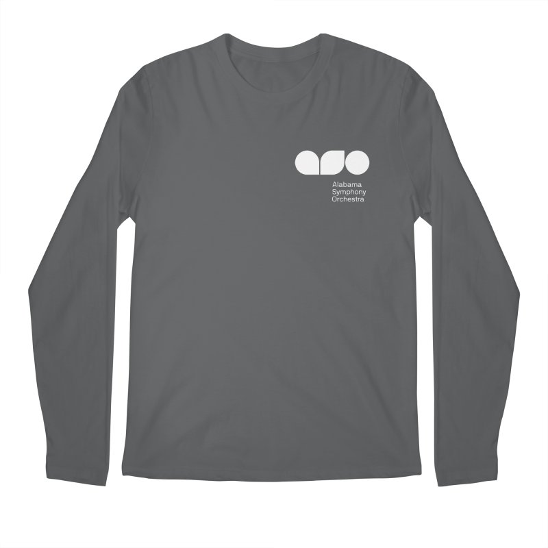 White Logo Left Chest Men's Regular Longsleeve T-Shirt by Alabama Symphony Orchestra Goods & Apparel