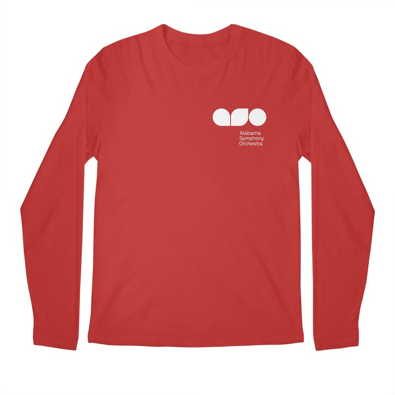 White Logo Left Chest Men's Longsleeve T-Shirt by Alabama Symphony Orchestra Goods & Apparel