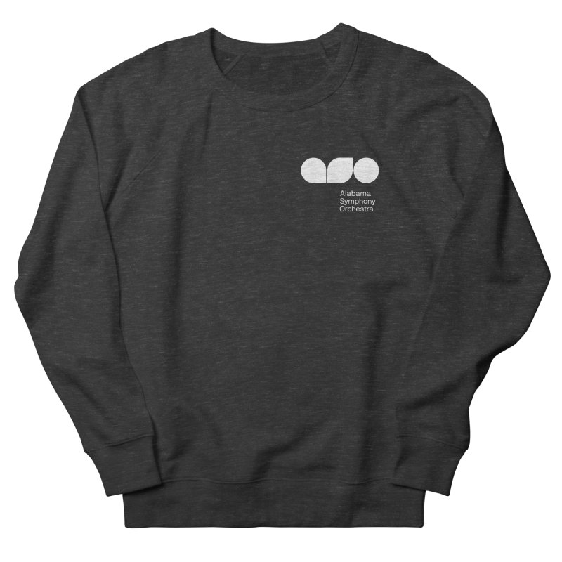 White Logo Left Chest Women's French Terry Sweatshirt by Alabama Symphony Orchestra Goods & Apparel