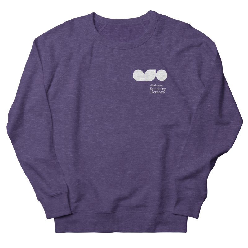 White Logo Left Chest Women's Sweatshirt by Alabama Symphony Orchestra Goods & Apparel