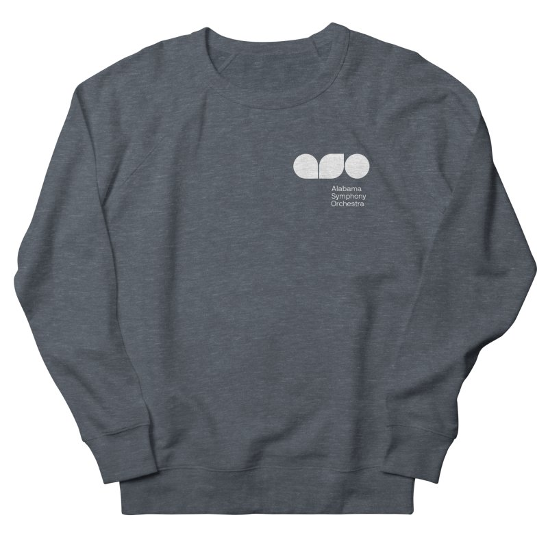 White Logo Left Chest Women's Sweatshirt by Alabama Symphony Orchestra Goods & Apparel