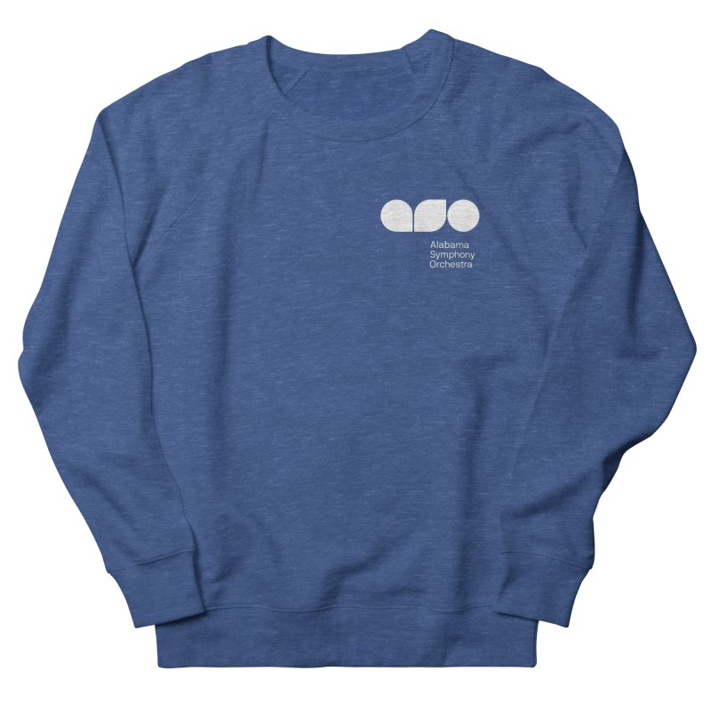 White Logo Left Chest Men's Sweatshirt by Alabama Symphony Orchestra Goods & Apparel