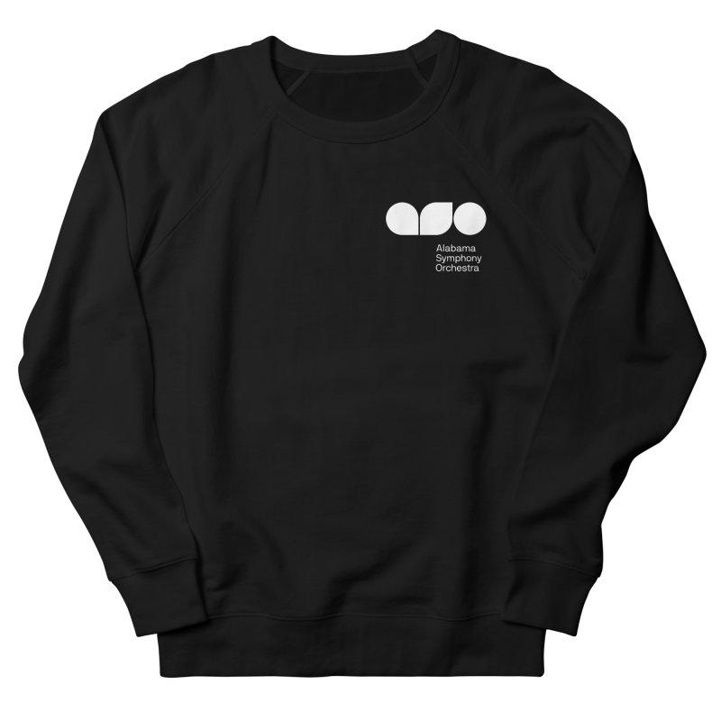 White Logo Left Chest Men's Sweatshirt by Alabama Symphony Orchestra Goods & Apparel