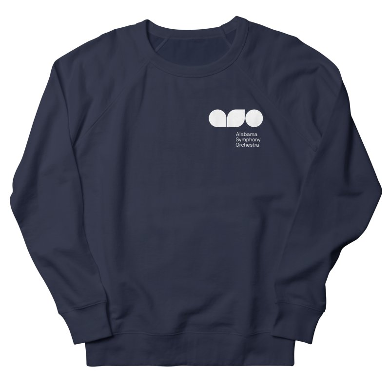 White Logo Left Chest Men's French Terry Sweatshirt by Alabama Symphony Orchestra Goods & Apparel