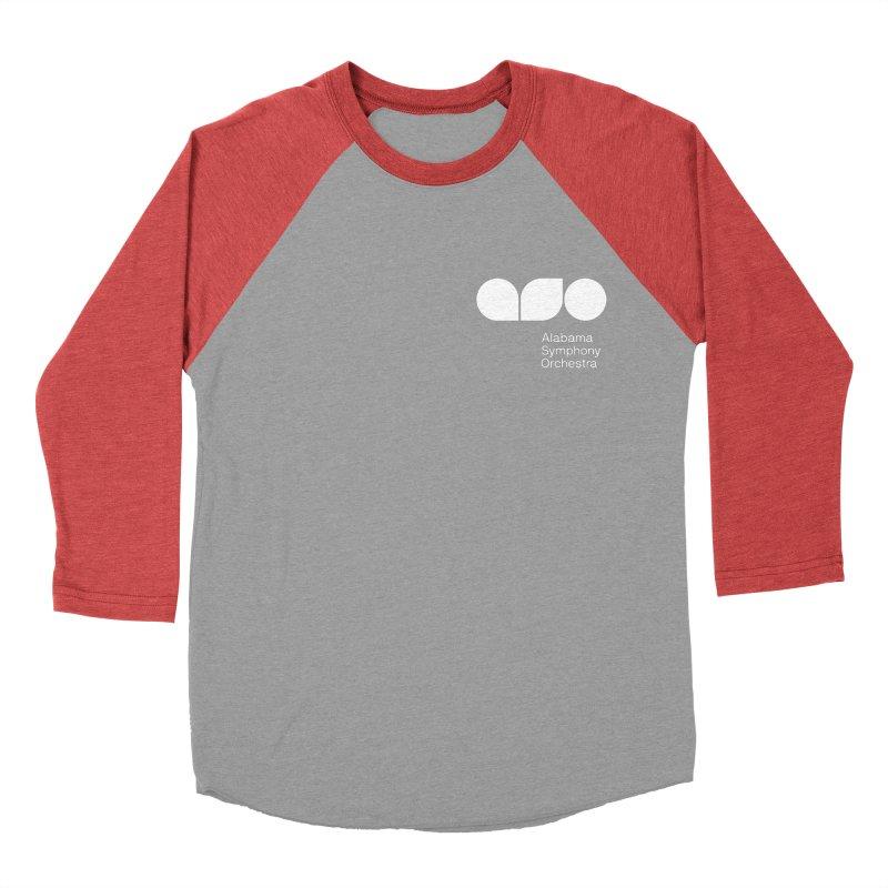 White Logo Left Chest Women's Baseball Triblend Longsleeve T-Shirt by Alabama Symphony Orchestra Goods & Apparel