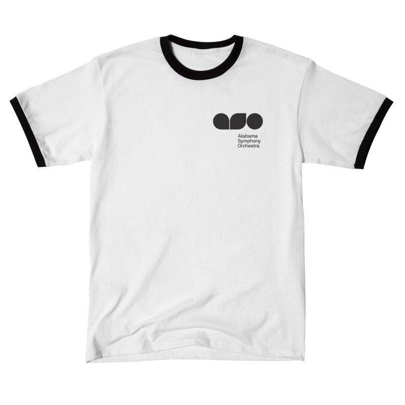 Black Logo Left Chest Men's T-Shirt by Alabama Symphony Orchestra Goods & Apparel
