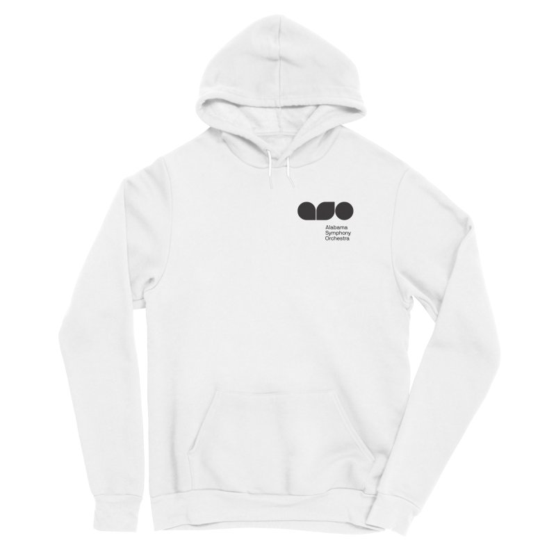 Black Logo Left Chest Men's Pullover Hoody by Alabama Symphony Orchestra Goods & Apparel