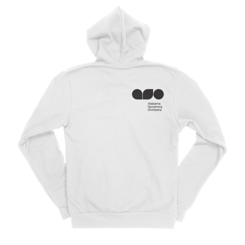 Black Logo Left Chest Men's Zip-Up Hoody by Alabama Symphony Orchestra Goods & Apparel