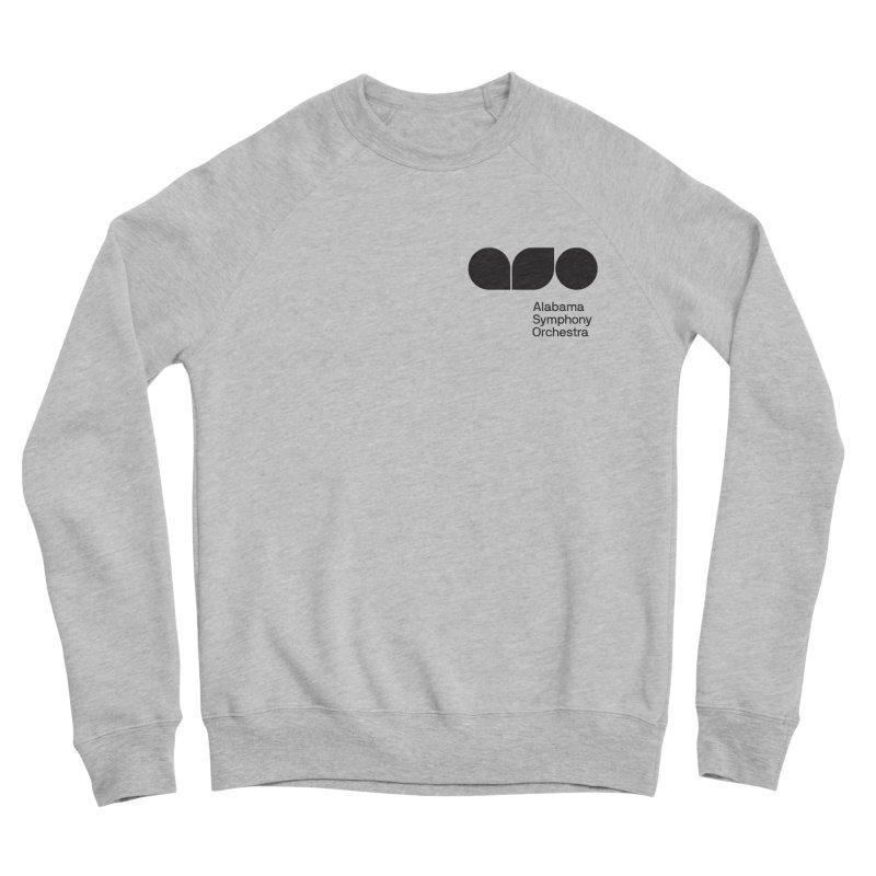 Black Logo Left Chest Men's Sweatshirt by Alabama Symphony Orchestra Goods & Apparel