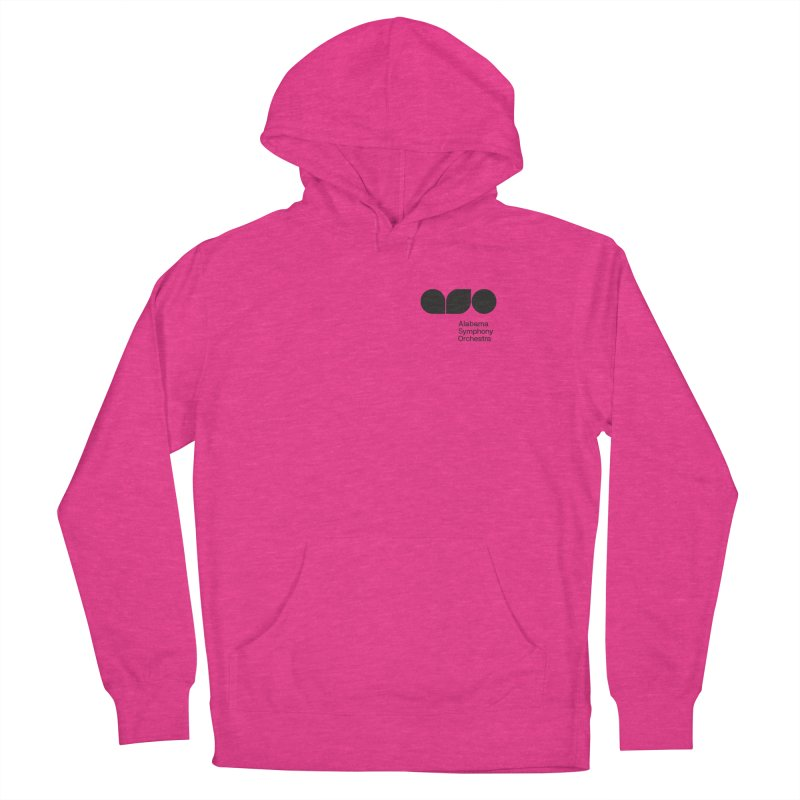 Black Logo Left Chest Women's French Terry Pullover Hoody by Alabama Symphony Orchestra Goods & Apparel