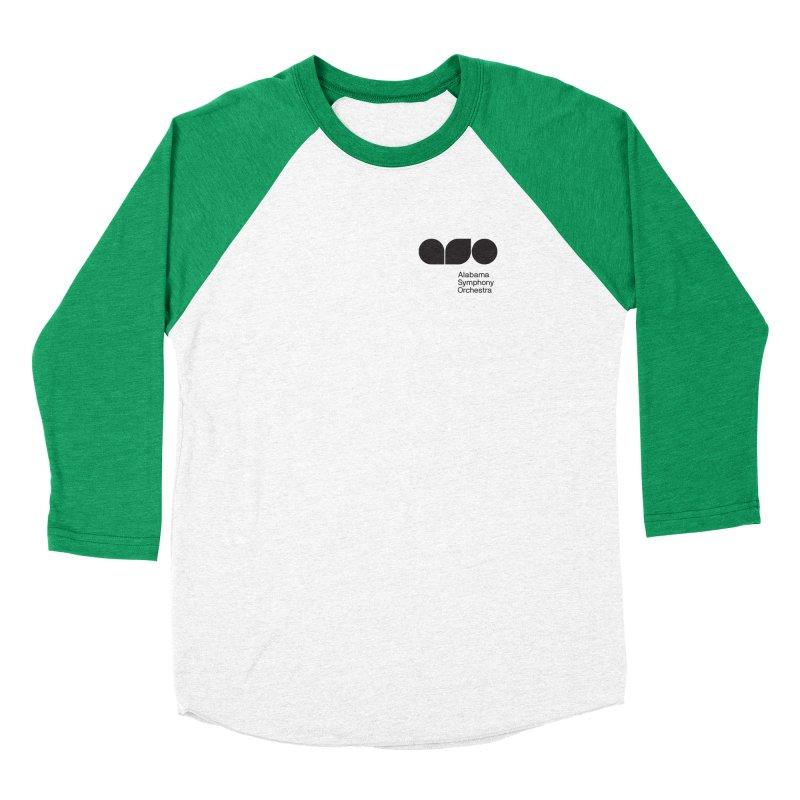 Black Logo Left Chest Men's Longsleeve T-Shirt by Alabama Symphony Orchestra Goods & Apparel