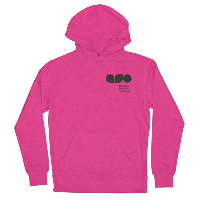 Black Logo Left Chest Men's French Terry Pullover Hoody by Alabama Symphony Orchestra Goods & Apparel