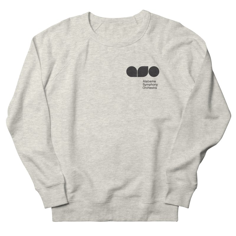 Black Logo Left Chest Men's Sweatshirt by Alabama Symphony Orchestra Goods & Apparel