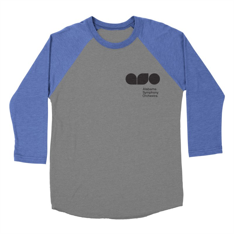 Black Logo Left Chest Women's Baseball Triblend T-Shirt by Alabama Symphony Orchestra Goods & Apparel