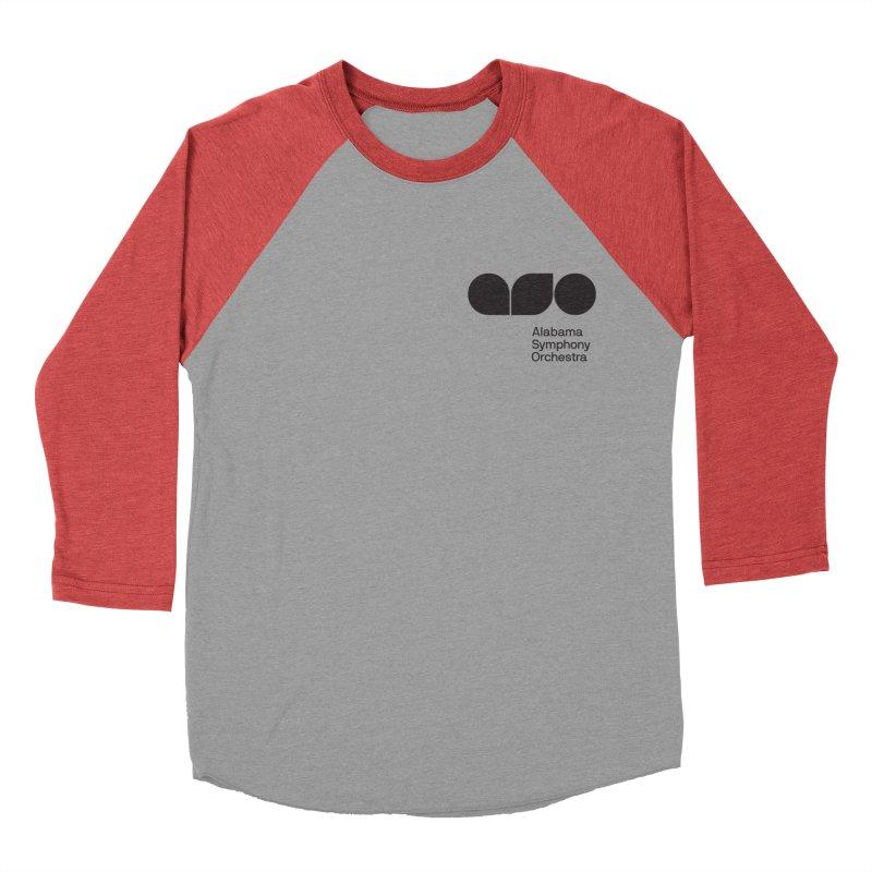 Black Logo Left Chest Men's Baseball Triblend Longsleeve T-Shirt by Alabama Symphony Orchestra Goods & Apparel