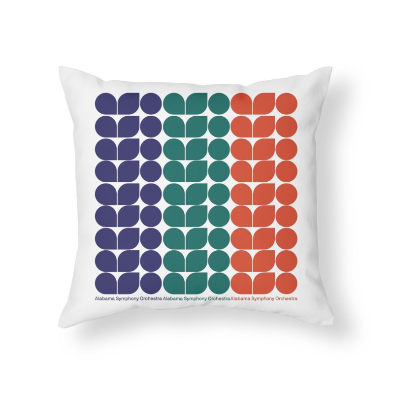 Logo Pattern Home Throw Pillow by Alabama Symphony Orchestra Goods & Apparel