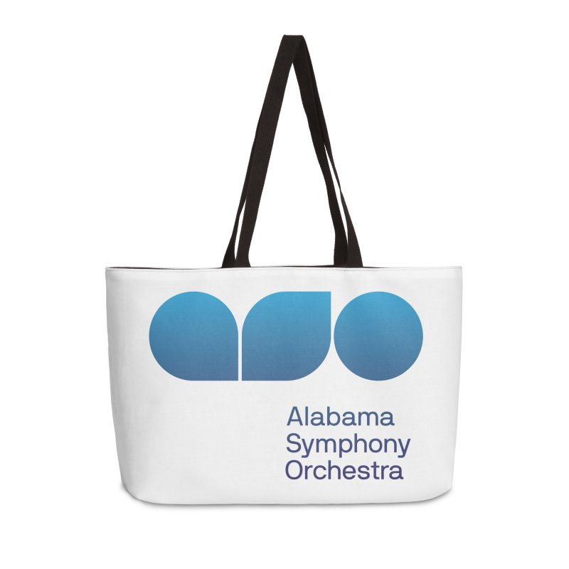 Logo Pattern Accessories Weekender Bag Bag by Alabama Symphony Orchestra Goods & Apparel