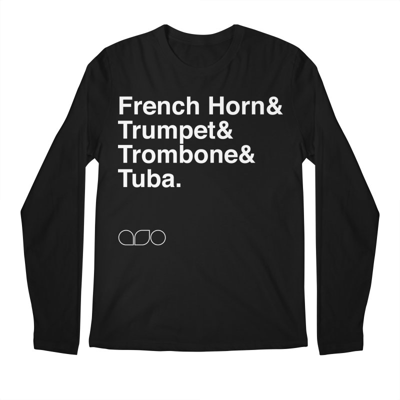 Brass Helvetica Tee Men's Longsleeve T-Shirt by Alabama Symphony Orchestra Goods & Apparel