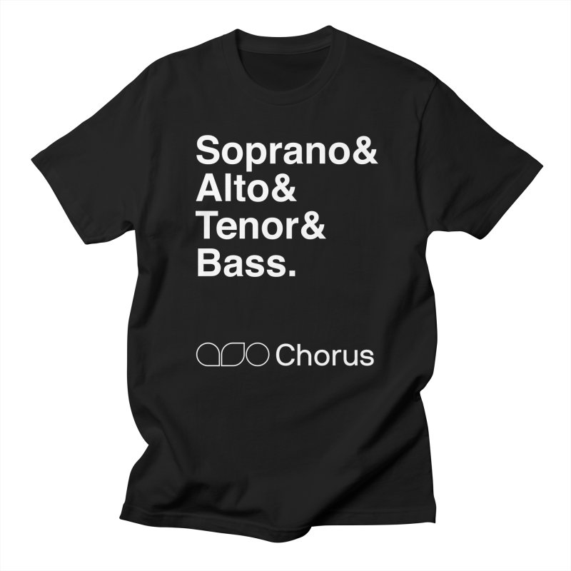 Chorus Helvetica Tee in Men's Regular T-Shirt Black by Alabama Symphony Orchestra Goods & Apparel