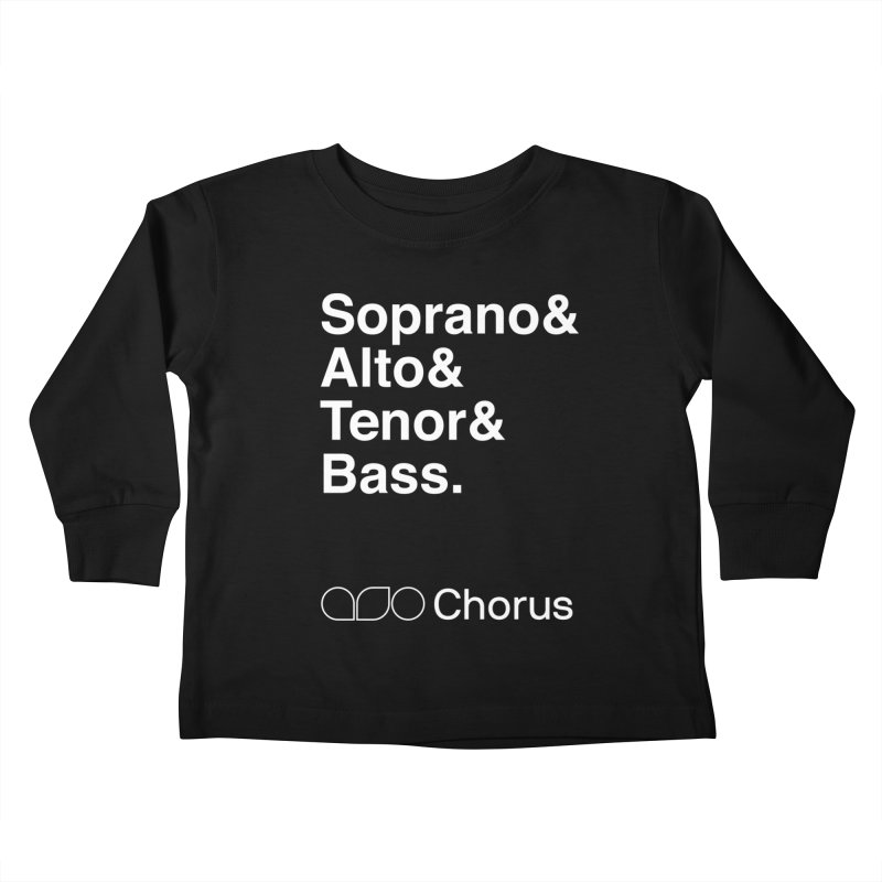 Chorus Helvetica Tee Kids Toddler Longsleeve T-Shirt by Alabama Symphony Orchestra Goods & Apparel