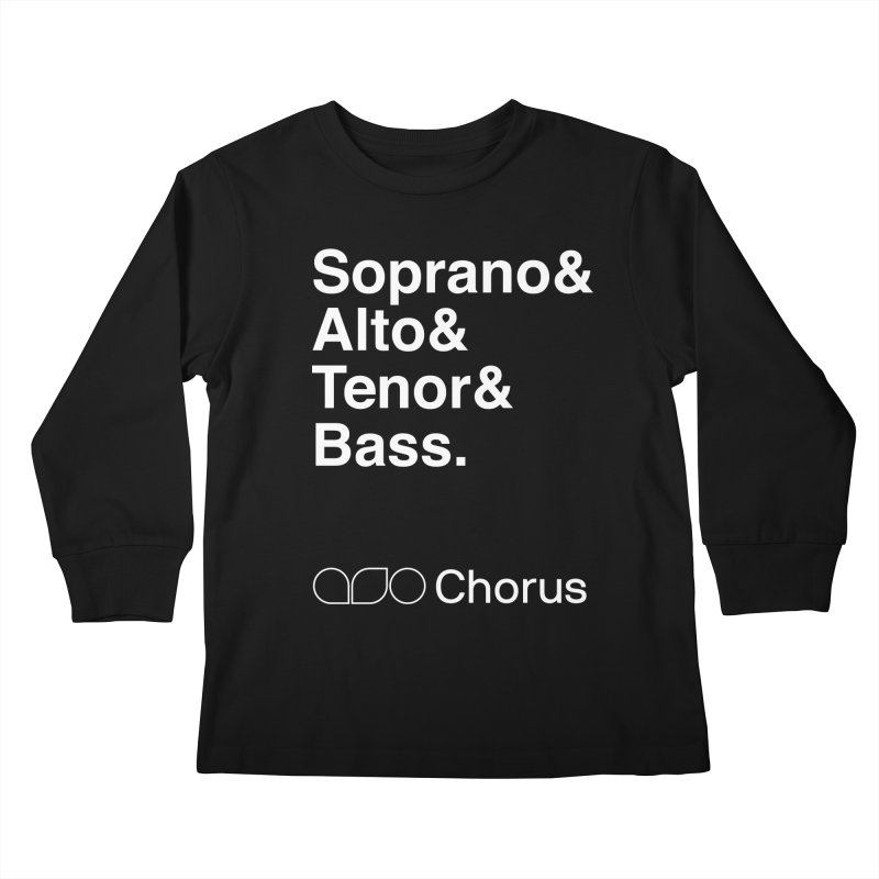 Chorus Helvetica Tee Kids Longsleeve T-Shirt by Alabama Symphony Orchestra Goods & Apparel