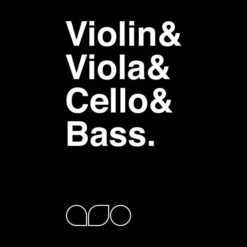Strings Helvetica Tee by Alabama Symphony Orchestra Goods & Apparel