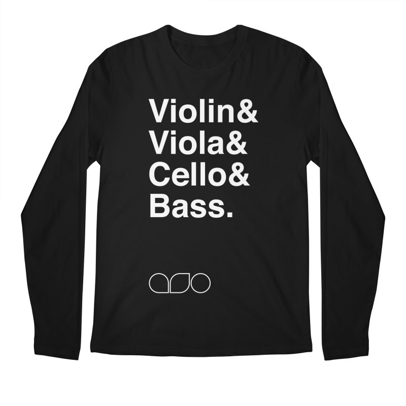Strings Helvetica Tee Men's Regular Longsleeve T-Shirt by Alabama Symphony Orchestra Goods & Apparel
