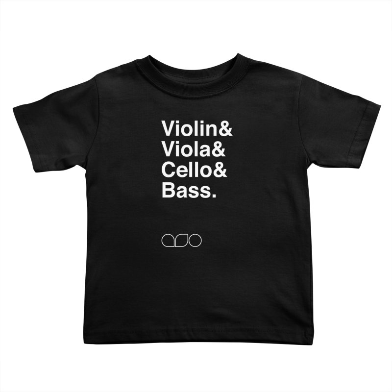 Strings Helvetica Tee Kids Toddler T-Shirt by Alabama Symphony Orchestra Goods & Apparel