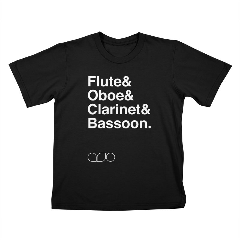 Winds Helvetica Tee Kids T-shirt by Alabama Symphony Orchestra Goods & Apparel