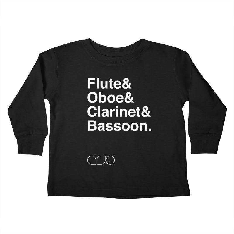 Winds Helvetica Tee Kids Toddler Longsleeve T-Shirt by Alabama Symphony Orchestra Goods & Apparel