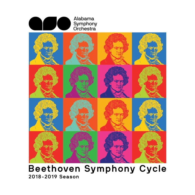 Beethoven Cycle Shirt (Black text) by Alabama Symphony Orchestra Goods & Apparel