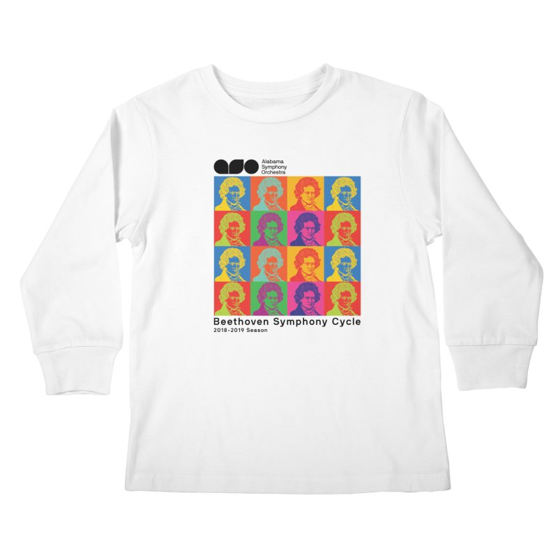 Beethoven Cycle Shirt (Black text) Kids Longsleeve T-Shirt by Alabama Symphony Orchestra Goods & Apparel