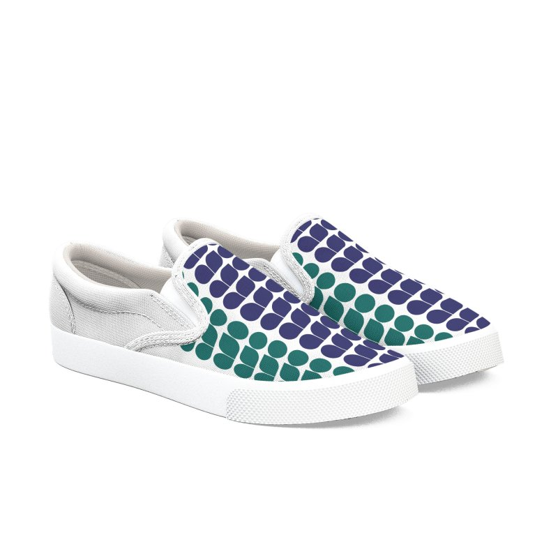 ASO logo colored Men's Slip-On Shoes by Alabama Symphony Orchestra Goods & Apparel
